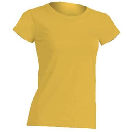 Regular Lady Comfort T-Shirt in Gold von JHK (Artnum: JHK152