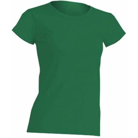 Regular Lady Comfort T-Shirt in Kelly Green von JHK (Artnum: JHK152