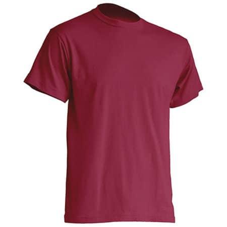 Regular Premium T-Shirt in Burgundy von JHK (Artnum: JHK190