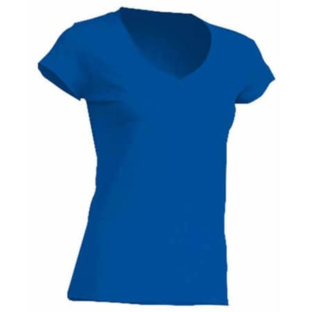 Ladies` V-Neck Sicilia in Royal Blue von JHK (Artnum: JHK271