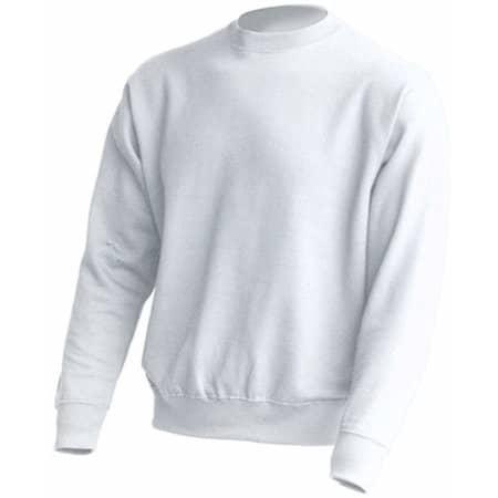 Crew Neck Sweatshirt JHK320 in White von JHK (Artnum: JHK320