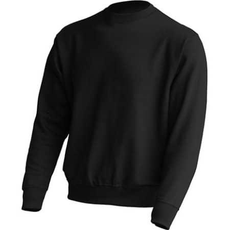 Crew Neck Sweatshirt JHK320 in Black von JHK (Artnum: JHK320