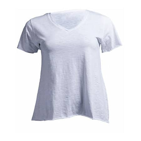 Curves Slub T-Shirt Lady von JHK (Artnum: JHK603