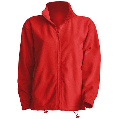 Men Fleece Jacket in Red von JHK (Artnum: JHK800