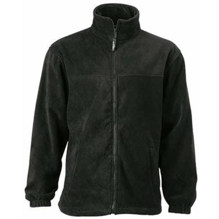 Full-Zip Fleece in Black von James+Nicholson (Artnum: JN044