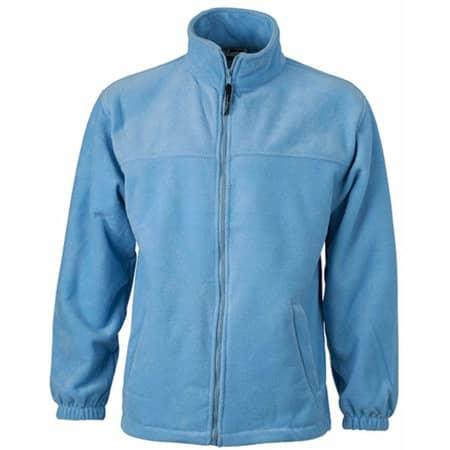 Full-Zip Fleece in Light Blue von James+Nicholson (Artnum: JN044