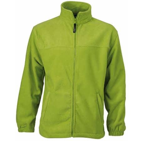 Full-Zip Fleece in Lime Green von James+Nicholson (Artnum: JN044