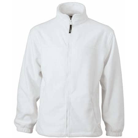 Full-Zip Fleece in White von James+Nicholson (Artnum: JN044