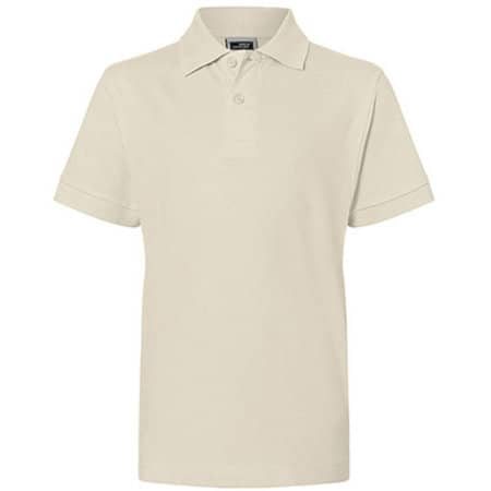 Classic Polo Junior in Stone von James+Nicholson (Artnum: JN070K