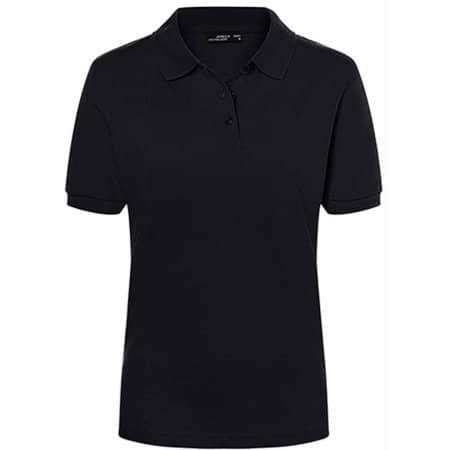 Classic Polo Ladies in Black von James+Nicholson (Artnum: JN071