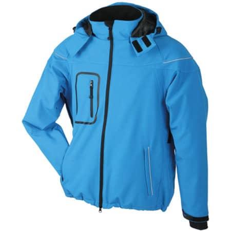 Men`s Winter Softshell Jacket in Aqua von James+Nicholson (Artnum: JN1000