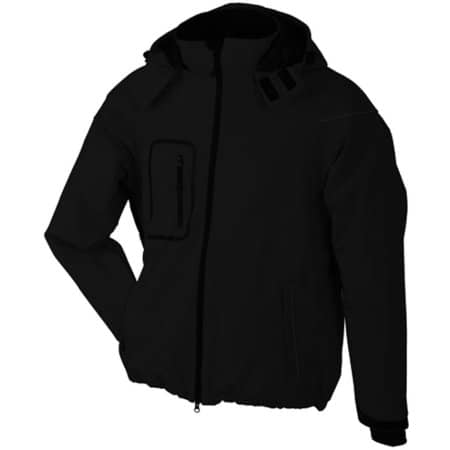 Men`s Winter Softshell Jacket in Black von James+Nicholson (Artnum: JN1000