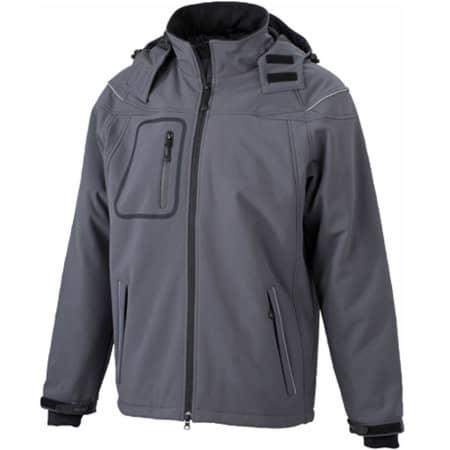 Men`s Winter Softshell Jacket in Carbon von James+Nicholson (Artnum: JN1000