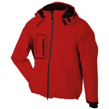 Men`s Winter Softshell Jacket in Red von James+Nicholson (Artnum: JN1000