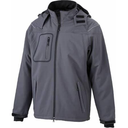 Men`s Winter Softshell Jacket von James+Nicholson (Artnum: JN1000