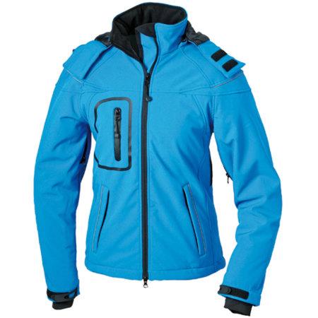 Ladies` Winter Softshell Jacket in Aqua von James+Nicholson (Artnum: JN1001