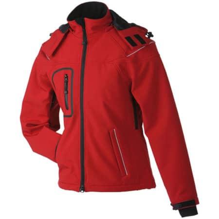 Ladies` Winter Softshell Jacket in Red von James+Nicholson (Artnum: JN1001