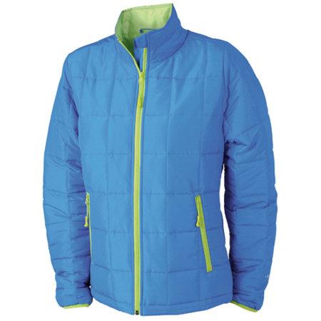Ladies` Padded Light Weight Jacket in Aqua|Lime Green von James+Nicholson (Artnum: JN1034