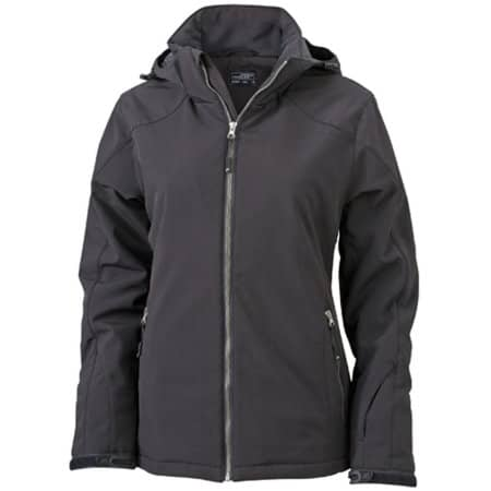 Ladies` Wintersport Softshell in Black von James+Nicholson (Artnum: JN1053