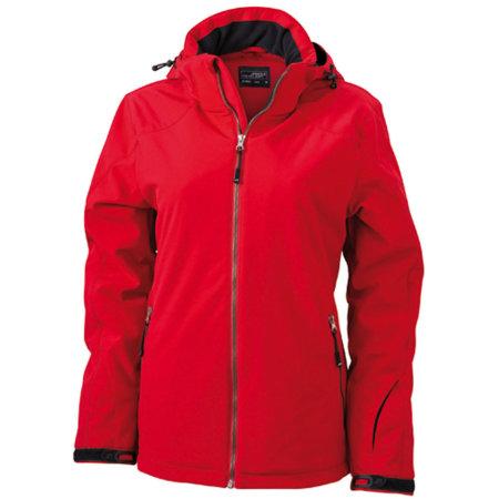 Ladies` Wintersport Softshell in Red von James+Nicholson (Artnum: JN1053