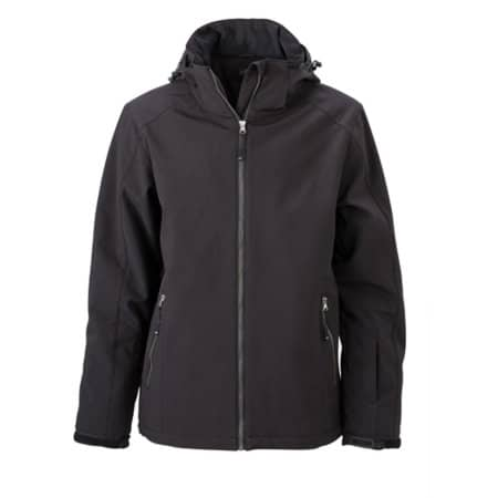Men`s Wintersport Softshell in Black von James+Nicholson (Artnum: JN1054