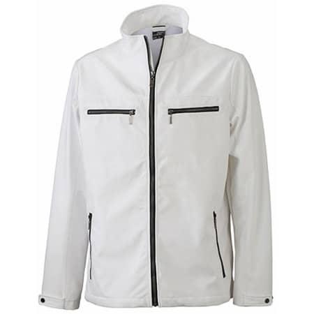 Men`s Tailored Softshell in White von James+Nicholson (Artnum: JN1058