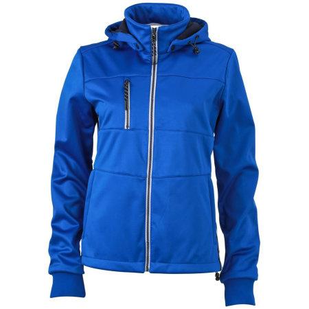 Ladies` Maritime Softshell-Jacket in Nautic Blue|Navy|White von James+Nicholson (Artnum: JN1077