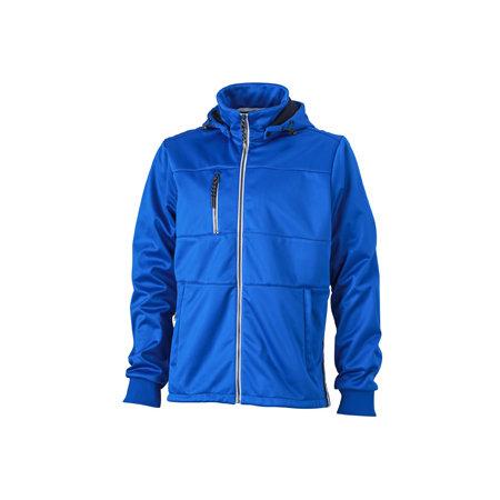 Men`s Maritime Softshell-Jacket in Nautic Blue|Navy|White von James+Nicholson (Artnum: JN1078
