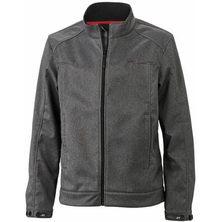 Men`s Softshell Jacket JN1088 in Dark-Melange von James+Nicholson (Artnum: JN1088