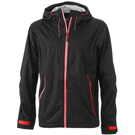 Men`s Outdoor Jacket in Black Red von James+Nicholson (Artnum: JN1098