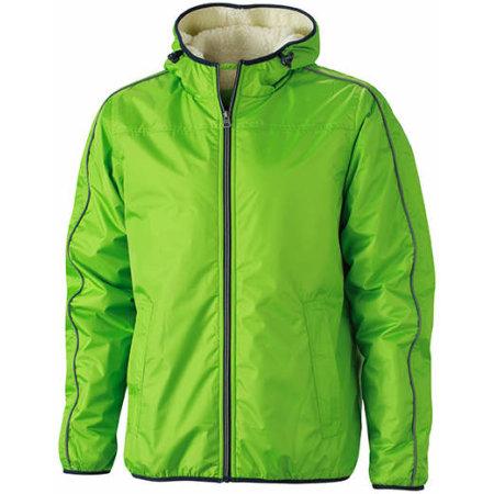 Men`s Winter Sports Jacket in Spring Green Off-White von James+Nicholson (Artnum: JN1104
