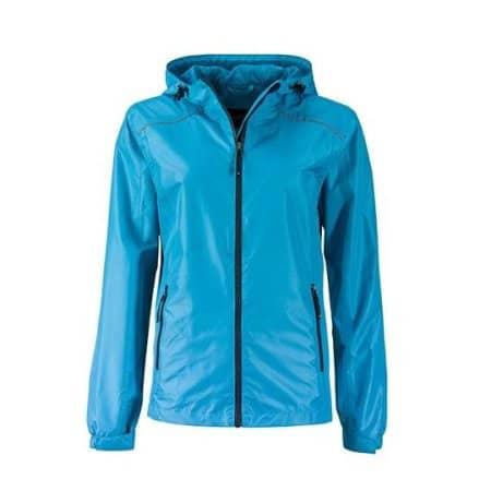 Ladies` Rain Jacket von James+Nicholson (Artnum: JN1117