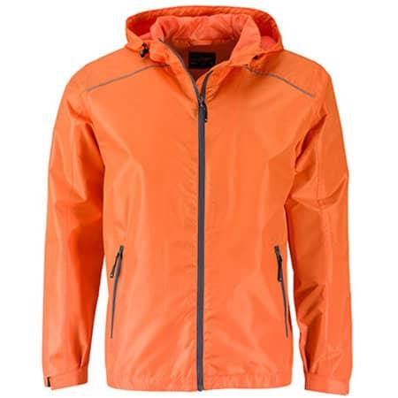 Men`s` Rain Jacket in Orange Carbon von James+Nicholson (Artnum: JN1118