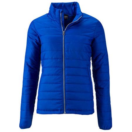 Ladies` Padded Jacket in Royal von James+Nicholson (Artnum: JN1119