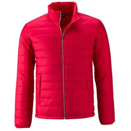 Men`s Padded Jacket in Red von James+Nicholson (Artnum: JN1120