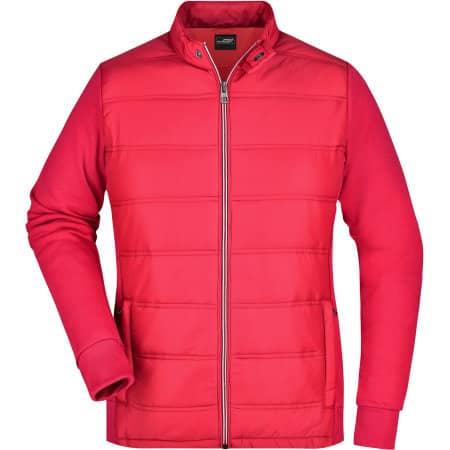 Ladies` Hybrid Sweat Jacket von James+Nicholson (Artnum: JN1123