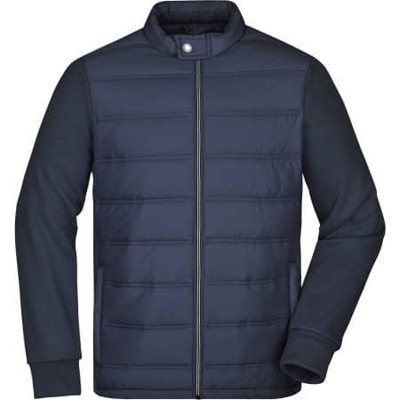 Men`s Hybrid Sweat Jacket von James+Nicholson (Artnum: JN1124
