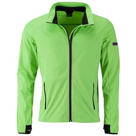 Men`s Sports Softshell Jacket in Bright Green|Black von James+Nicholson (Artnum: JN1126