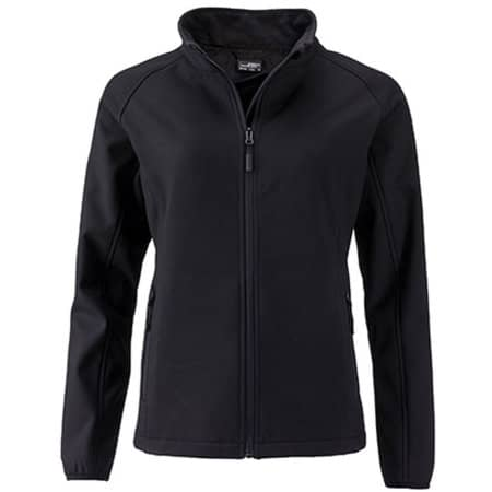 Ladies` Promo Softshell Jacket in Black|Black von James+Nicholson (Artnum: JN1129