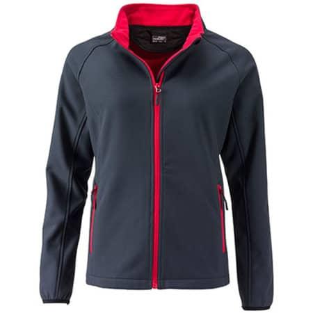 Ladies` Promo Softshell Jacket in Iron Grey|Red von James+Nicholson (Artnum: JN1129