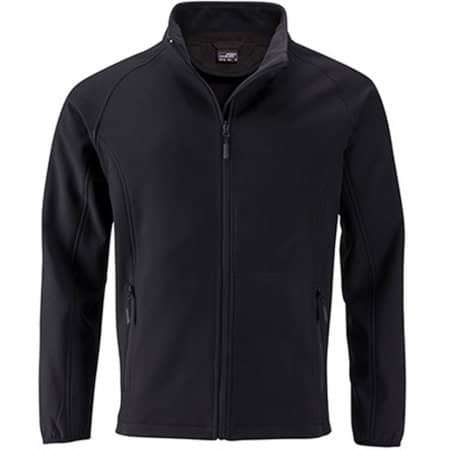 Men`s Promo Softshell Jacket in Black|Black von James+Nicholson (Artnum: JN1130