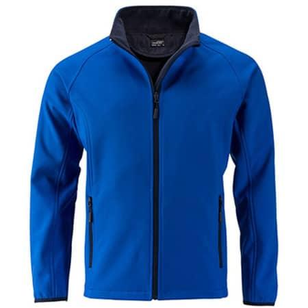 Men`s Promo Softshell Jacket in Nautic Blue|Navy von James+Nicholson (Artnum: JN1130