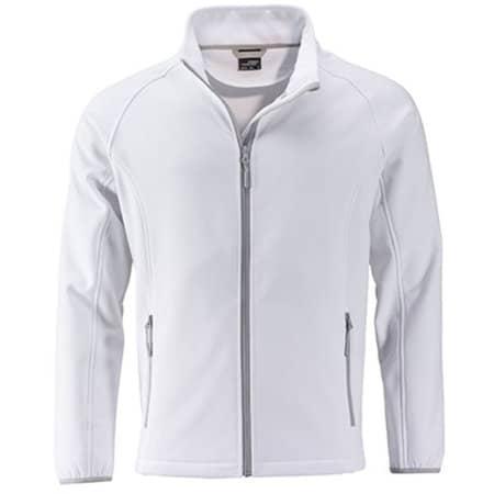 Men`s Promo Softshell Jacket in White|White von James+Nicholson (Artnum: JN1130