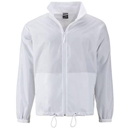 Men`s Promo Jacket in White von James+Nicholson (Artnum: JN1132