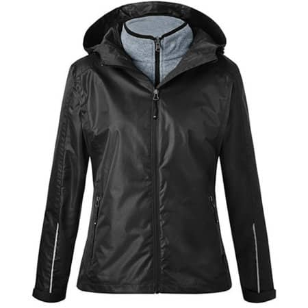 Ladies´ 3-in-1-Jacket in Black|Black von James+Nicholson (Artnum: JN1153