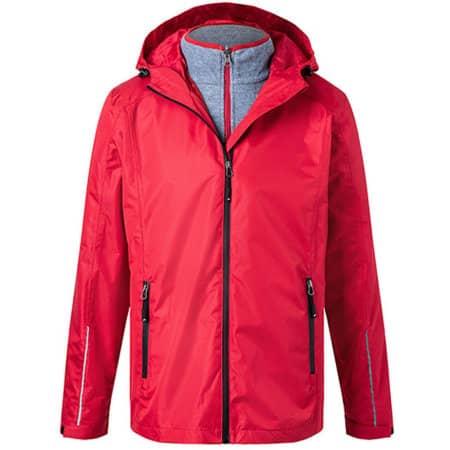 Men´s 3-in-1-Jacket in Red|Black von James+Nicholson (Artnum: JN1154