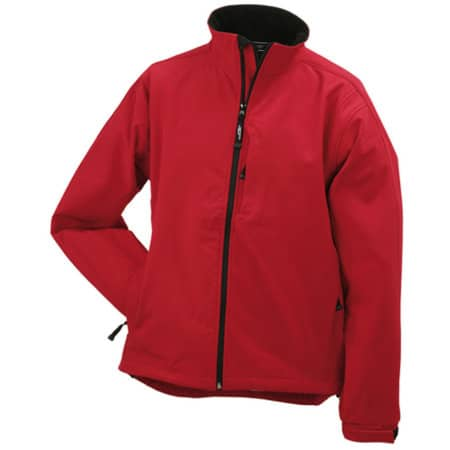 Men`s Softshell Jacket 135 in Red von James+Nicholson (Artnum: JN135