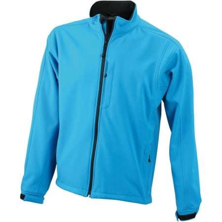 Men`s Softshell Jacket 135 in Aqua von James+Nicholson (Artnum: JN135