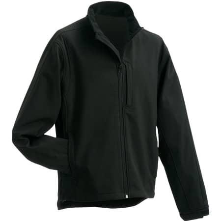 Men`s Softshell Jacket 135 in Black von James+Nicholson (Artnum: JN135