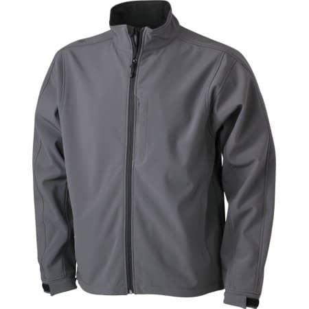Men`s Softshell Jacket 135 in Carbon von James+Nicholson (Artnum: JN135